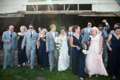 wedding party barn photo