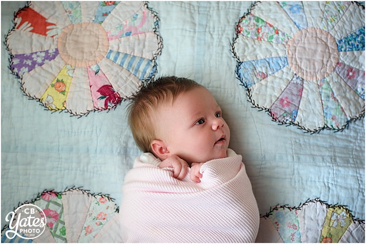 newborn photography quilt