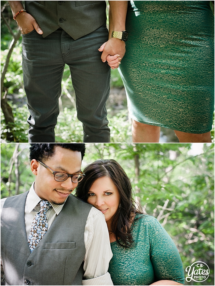 cb Yates Photography-engaged couple-outdoors-forest