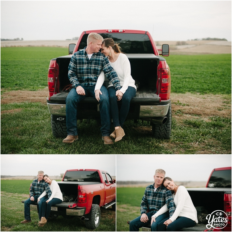 red-truck-engagement-photography