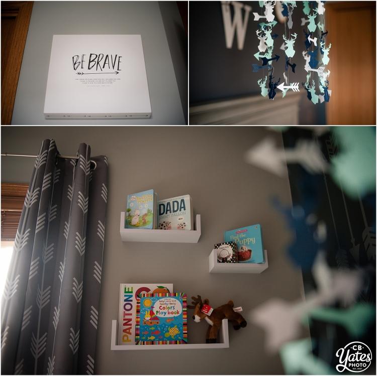 arrow themed baby boy room decor