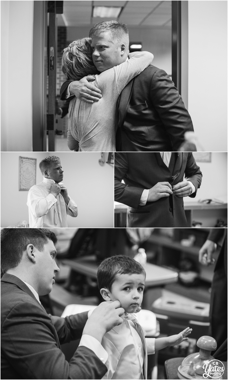 Groom getting ready Omaha Wedding Photography