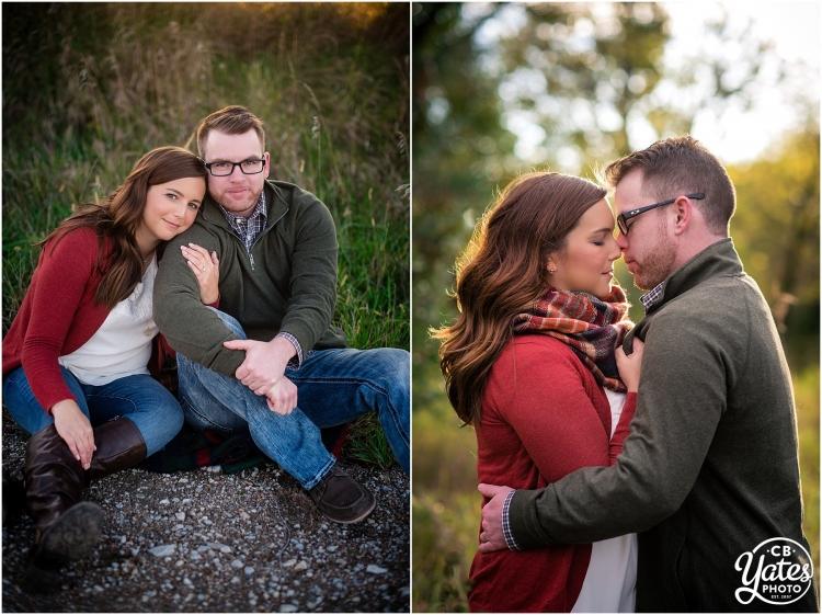 Fall Engagement Session Couple Cuddling Omaha, NE cb Yates Photo