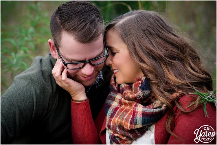 Autumn Couple Cuddling Engagement Omaha, NE cb Yates Photo